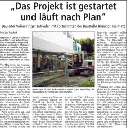 Artikel im Süderländer Volksfreund, 8.5.2015
