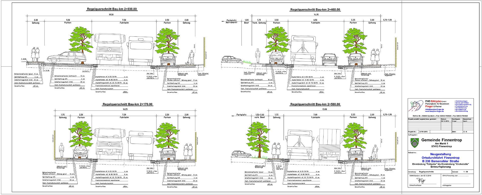 Entwurfsplanung Umbau OD Finnentrop - B 236 - FINGER